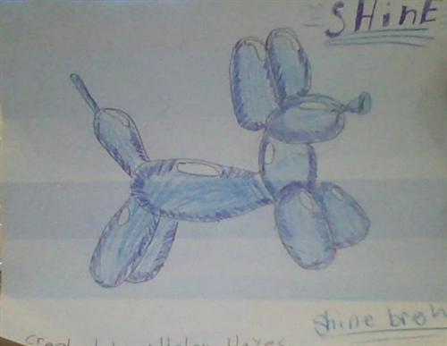 "Koons Balloon Dog ""Shine"""