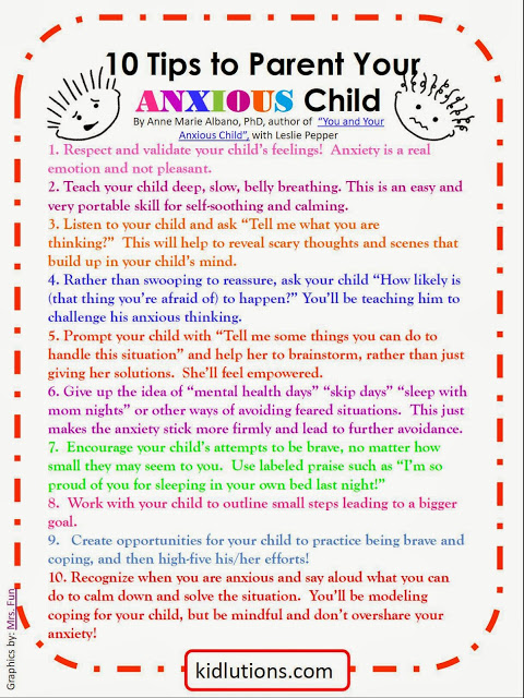 Tips for anxious children